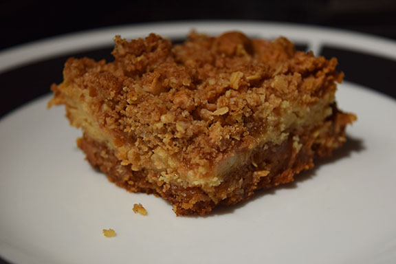 Oatmeal Butterscotch Crumble Cookie Bars with Cream Cheese Filling