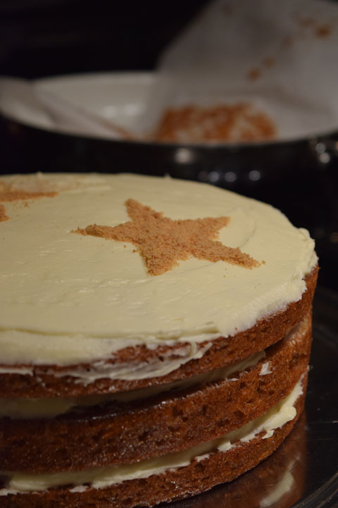 Graham Cracker Carrot Cake with Cream Cheese Frosting