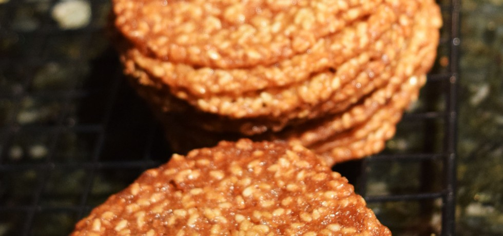 Sesame Seed Cookies or Benne Wafers