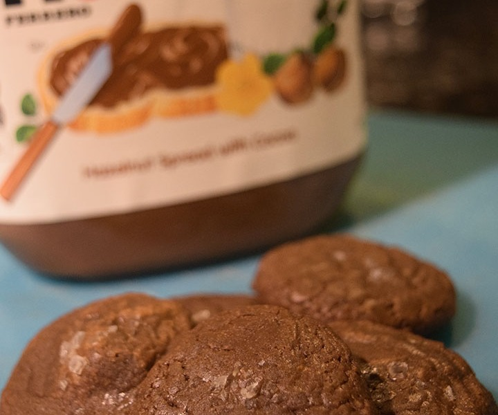 Fudgy Nutella Cookies