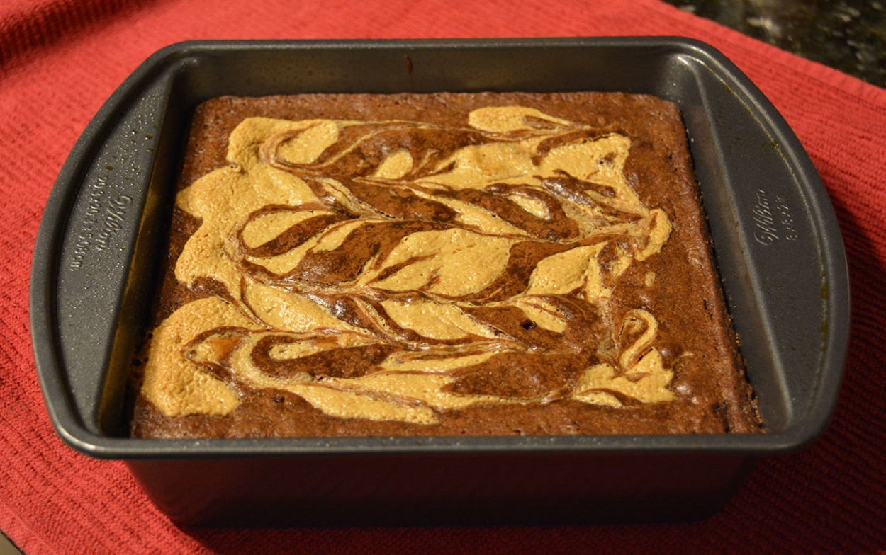 Peanut butter swirl brownie bars