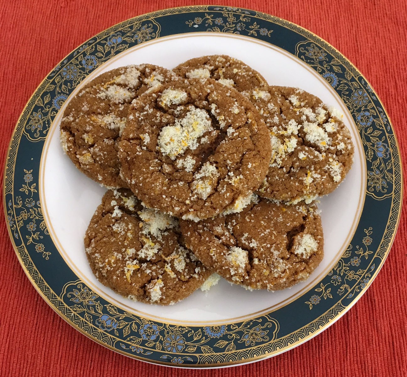 Orange Molasses Spice Cookies