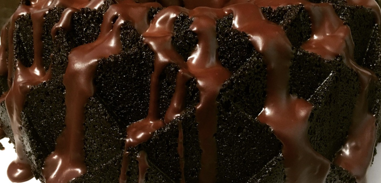 Dark Chocolate Bundt Cake with Chocolate Ganache