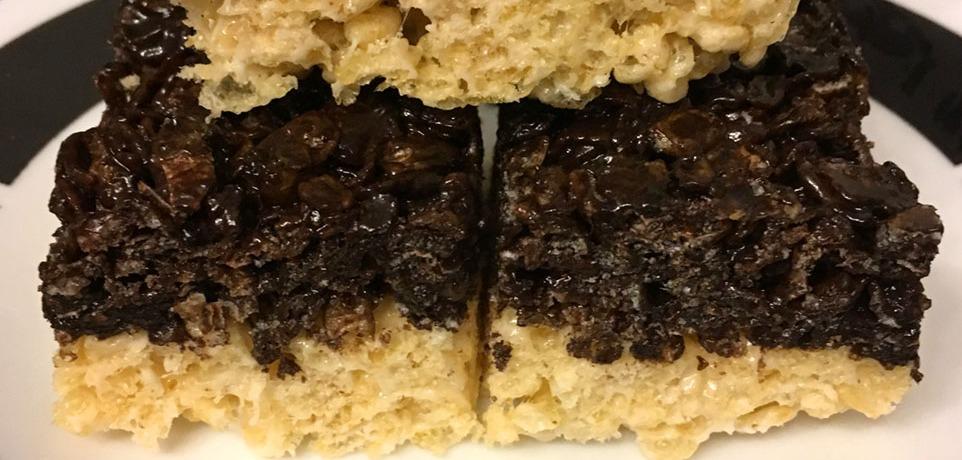 Chocolate and Plain rice crispy treats