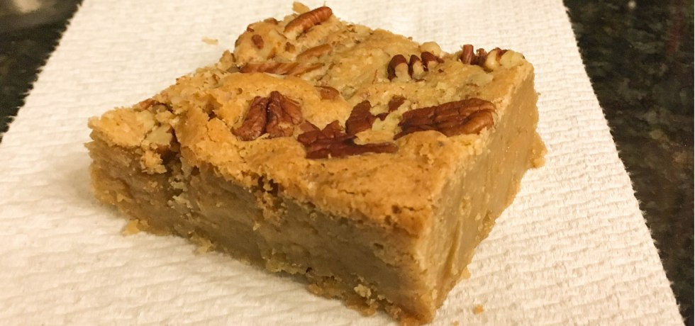 Brown Butter Blondie Cookie Bars with Pecans
