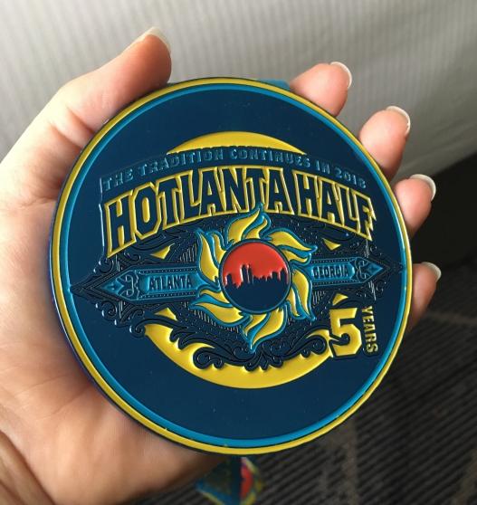 Hotlanta Half Marathon Medal from 2018