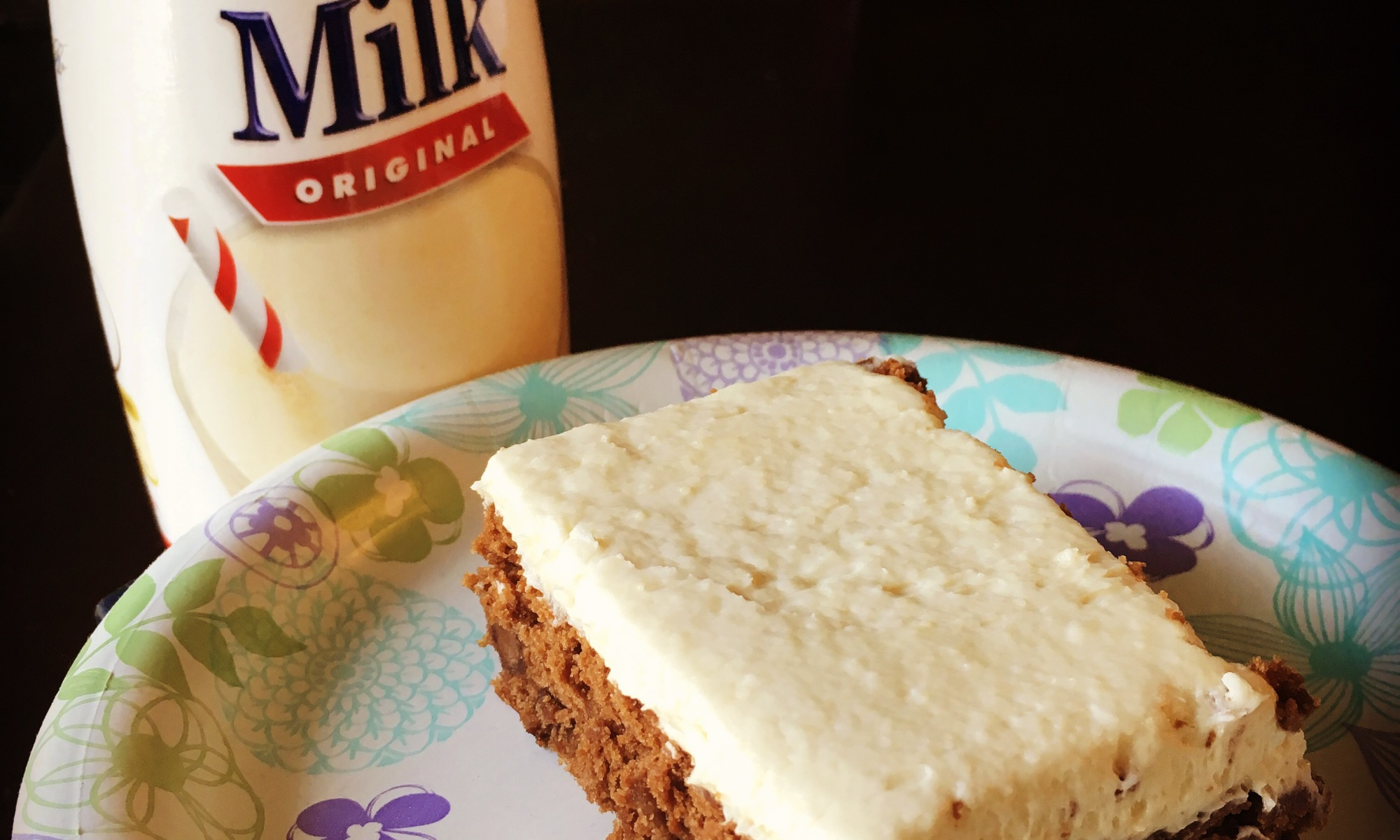 Chocolate malt cake with vanilla malted milk frosting