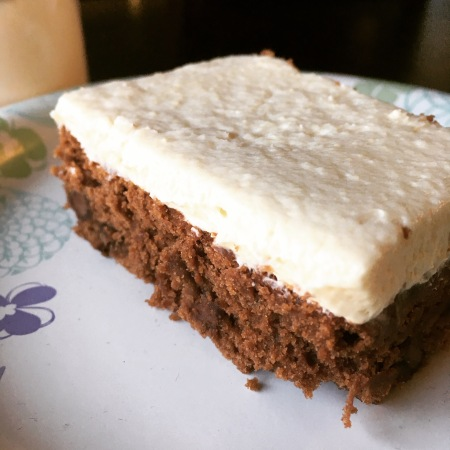 Double Malted Sheet Cake - Chocolate Malt with Malted Vanilla Frosting