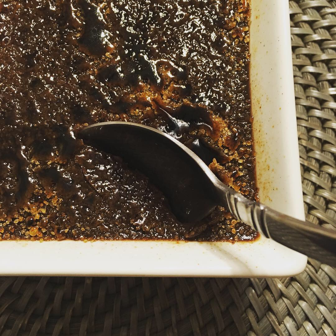 Cracking into Dark Chocolate crème brûlée