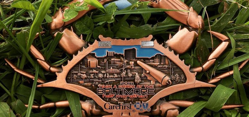 Baltimore Running Festival Half Marathon Medal 2018 - open