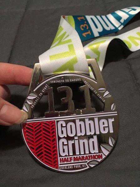Gobbler Grind Half Marathon Medal 2018