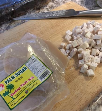 taro root and palm sugar