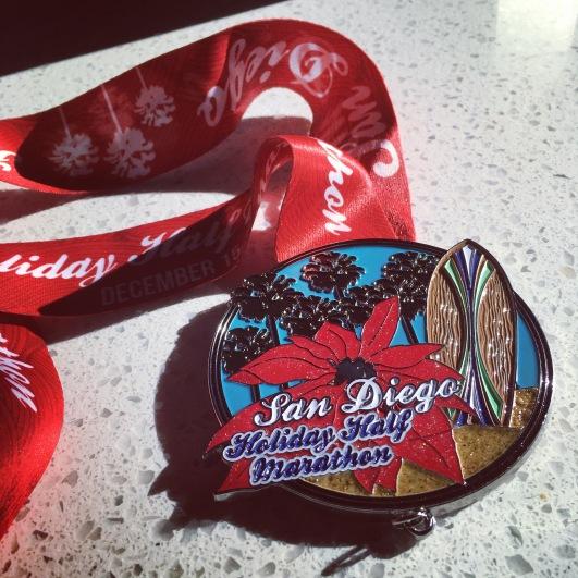San Diego Holiday Half Marathon Medal 2018
