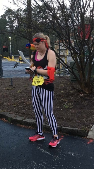 Flying Pirate Half Marathon 2019 Parrot Costume
