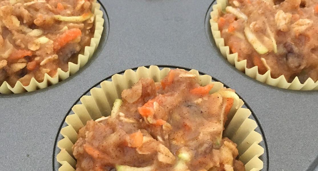 Easy Gluten-free Breakfast Muffins in the tin