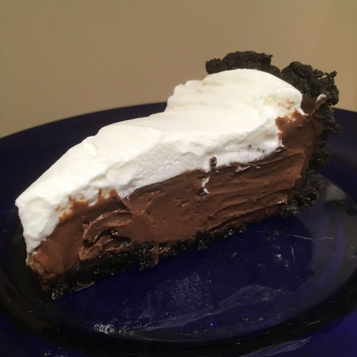 The Best Dark Chocolate Cream Pie Slice