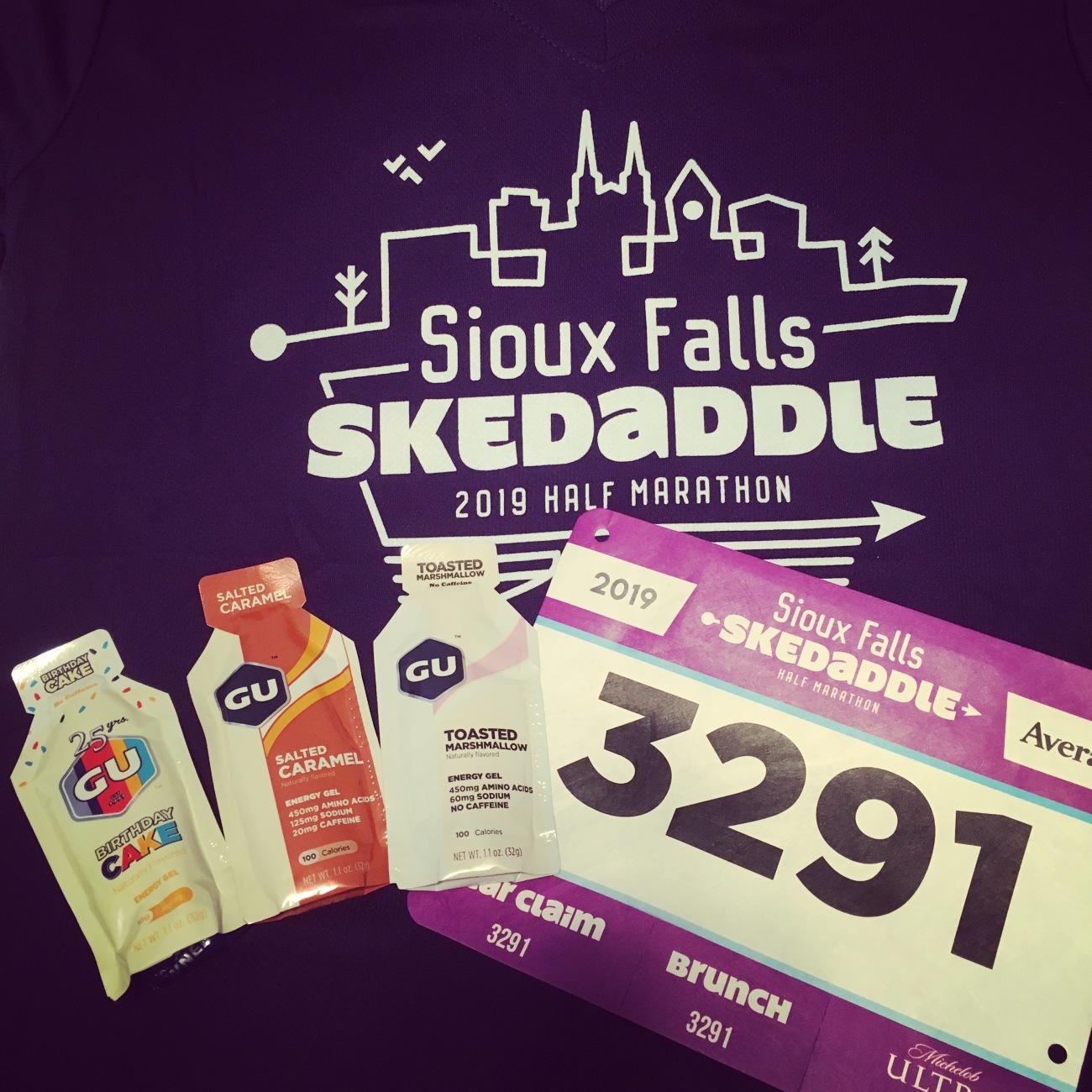 Sioux Falls Skedaddle Half Marathon 2019 - Prep