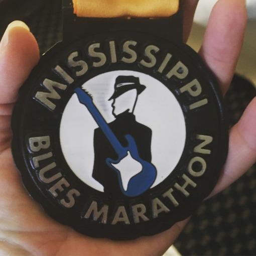 Mississippi Blues Half Marathon Medal - Race Review 2020