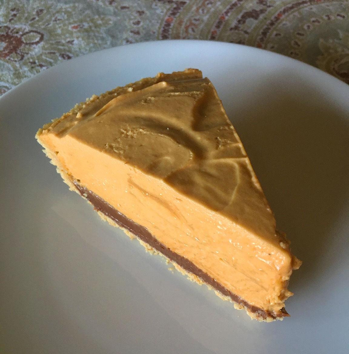 slice of dulce de leche pie