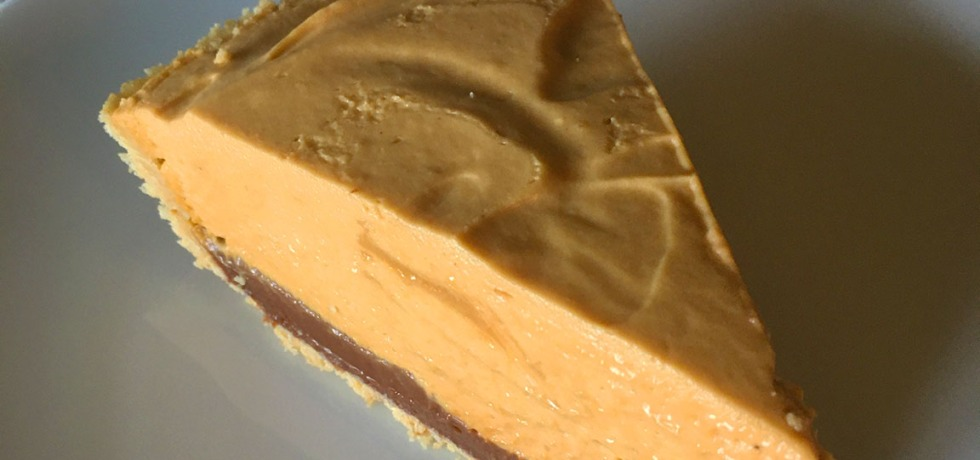 slice of dulce de leche pie