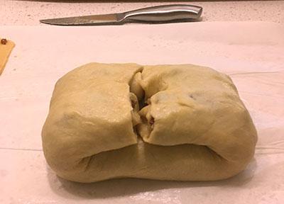 pecan bread folded